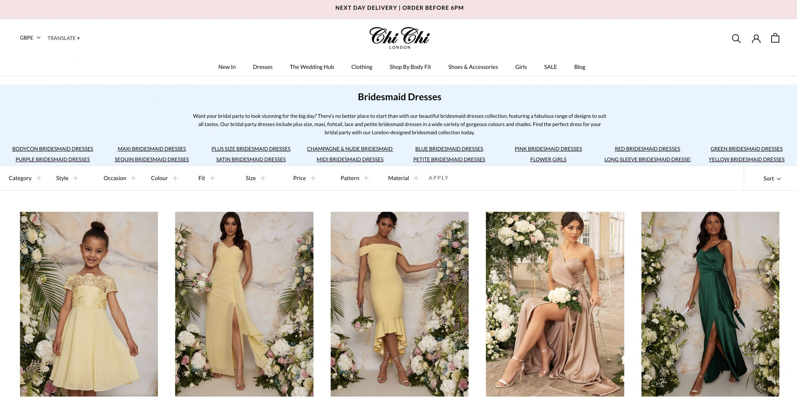 Chi Chi Clothing – SEO Project